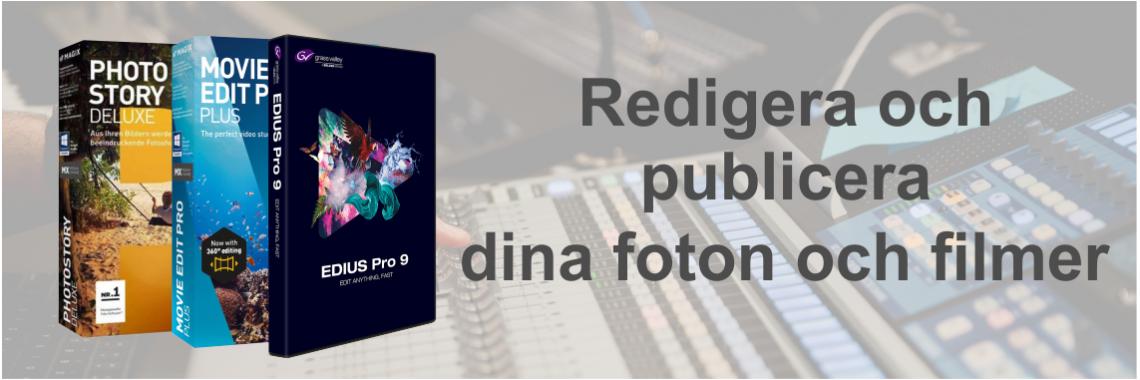 Redigera och publicera foto och film
